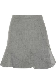 J.Crew | Flared wool mini skirt | NET-A-PORTER.COM