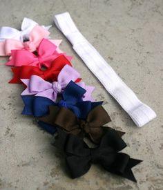 Interchangeable hair bow set