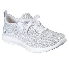 Skechers Women's Studio Comfort Memory Foam Slip On Sneakers (White/Light Grey)