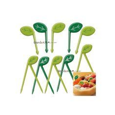 Japanese Bento Food Pick Leaf 10 pcs for Bento Box - Small Leaves