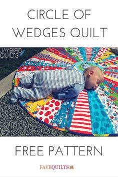 @jaybirdquilts has a creative way to use your scrappy quilt leftovers. The whole family will love this super easy circular quilt pattern. You can use it as a small baby quilt pattern, a table topper, and much more.