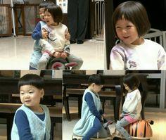 Toddler romance - choo sarang  song manse #triplets #theretunsofsuperman