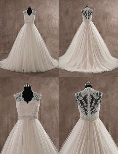 Gorgeous Embroidery Wedding Dress! Pink+ ivory color, one of the most popular wedding color!
