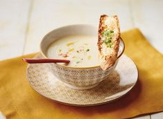 By Josée Robitaille cream of onion soup A perfect soup for a chilly fall day. Chef Recipes, Soup Recipes, Cooking Recipes, Cream Of Onion Soup, Cheese Festival, Crab Soup, Pureed Soup, Seafood Dishes, Soups And Stews
