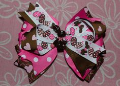 Chocolate Easter Bunny Hair Bow by MegansHairCandy on Etsy, $9