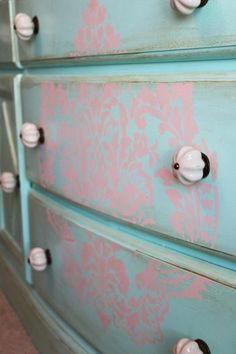 Dresser Tutorial- little-girls-bedroom-cornice-addisons-wonderland-bedding-canopy-ceiling-teal-dresser-stencil Pvc Canopy, Window Canopy, Beach Canopy, Canopy Curtains, Canopy Bedroom, Backyard Canopy, Garden Canopy, Fabric Canopy, Canopy Outdoor
