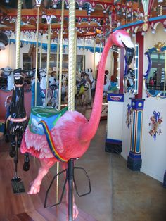 Carousel Flamingo. Oh my goodness, where is this???  I'll be first in line for this merry go round!!! :-)