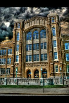 Quincy Junior High School. This school is so beautiful!!! They better not decide to destroy this school!!!