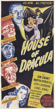 Universal's House Of Dracula, the last of the original cycles of their golden age horror films (unless you count Abbott & Costello Meet Frankenstein) I really loved this movie- saw it on Svengoolie! :)