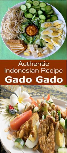 Gado-Gado (Authentic Indonesian Recipe) - Home Cooking Recipes Lunch Recipes, My Recipes, Dinner Recipes, Recipe Tips, Cooking Recipes, Gado Gado Recipe, Indonesian Food, Indonesian Recipes, Good Food