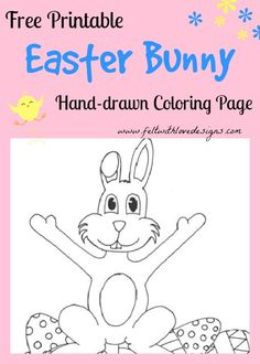 Free Printable Hand-drawn Coloring Page – Easter Bunny {Felt With Love Designs}