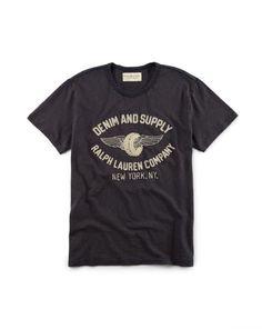 Embroidered Cotton Jersey Tee - Denim & Supply Tees - RalphLauren.com