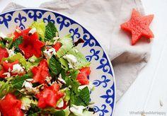 KarambaKarina's Welt: Sommersalat mit Melone von What makes me Happy