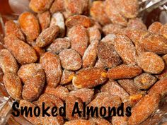 This easy to make smoked almond recipe can be made after the ribs and brisket are done. Starting with raw almonds, they are gently smoked until lightly browned. Smoked Nuts Recipe, Smoked Meat Recipes, Nut Recipes, No Salt Recipes, Almond Recipes, Raw Food Recipes, Snack Recipes, Smoked Pork, Milk Recipes
