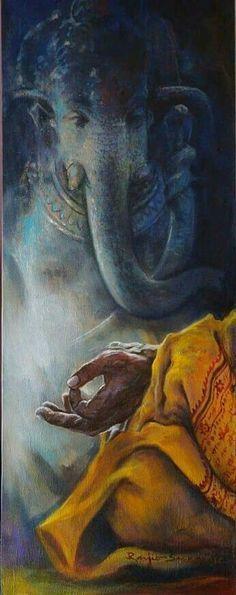 Ganesh # Ganesha # Jahnesh # Jahnesha # Jah We Lord Ganesha Paintings, Lord Shiva Painting, Buddha Painting, Shri Ganesh, Ganesha Art, Krishna Art, Ganesh Statue, Ganesh Images, Indian Art Paintings
