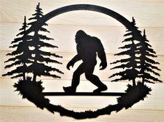 Bigfoot Big foot Sasquatch art Yeti Welcome sign metal cabin