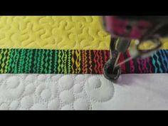 Pebbles and double bubble quilting on my Gammill Vision free motion hand guided custom work - YouTube