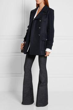 Pierre Balmain | Double-breasted wool-blend coat | NET-A-PORTER.COM