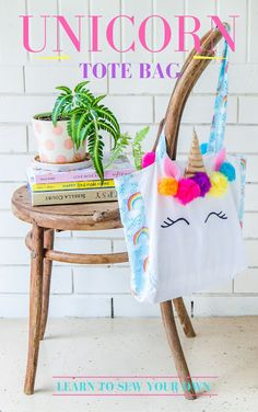 Make Your Own Unicorn & Rainbows Tote Bag eBook + Video | The Whimsical Wife