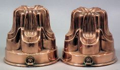Two Victorian copper jelly moulds