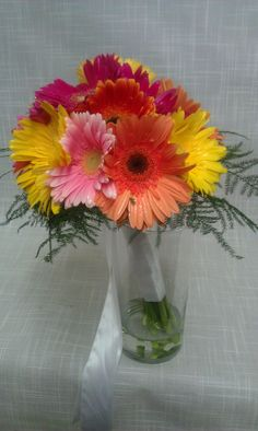 Gerbera Daisy Wedding Bouquet