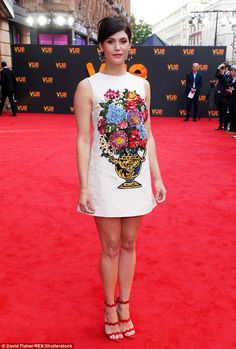 Era-defining: Gemma Arterton, 31, embraced her inner sixties siren as she attended the cin...
