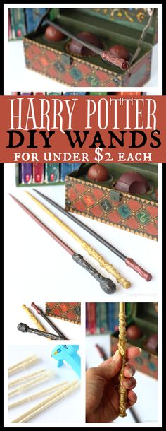 Easy Harry Potter Wands DIY for Under $2 - Raising Whasians