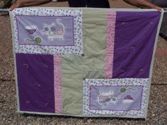 Upcycled / Repurposed Lavender Kitty Quilt with by SierraTraders, $30.00