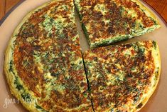 """Light Spinach and Feta Frittata. Servings: 4 servings Calories: """"Spinach, scallions feta and eggs make a fabulous breakfast or a low carb lunch with a Greek salad on the side. To make this low fat frittata I've replaced most of the eggs with egg whites. Spinach Frittata, Frittata Recipes, Spinach And Feta, Breakfast Frittata, Quiche, Chopped Spinach, Low Carb Recipes, Vegetarian Recipes, Cooking Recipes"""