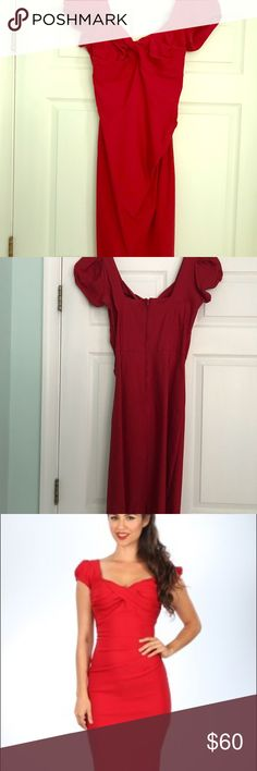 Stop Staring Billion Dollar Baby Dress Stop Staring Billion Dollar Baby dress in red. Perfect for Valentine's Day! The red is deeper than the red on the model and is more of a blue/red. Size 16, but runs very small. Overall length 40.5 inches from shoulder to hem. Dry clean only. Never worn. Stop Staring Dresses Midi
