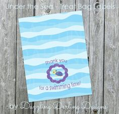 Under the Sea Treat Bag Labels Party Favors by DazzlingDarlings, $3.00