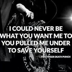Five Finger Death Punch//Coming Down Lyric Quotes, Words Quotes, Life Quotes, Sayings, Music Is My Escape, Music Is Life, Dark Love Quotes, Five Fingers, Soundtrack To My Life