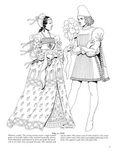 #ClippedOnIssuu from Renaissance Fashions Coloring Book