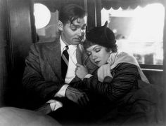 "Clark Gable and Claudette Colbert in ""It Happened One Night"" one of my favorite films. Amazing chemistry, witty dialogue, and Clark Gable :o)"