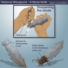 """HowStuffWorks """"Complex Wilderness Tools"""" - Information on weapons you can make in the wilderness. #survival"""