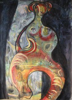 "Saatchi Online Artist: Catherine Siciliano; Acrylic, 2012, Painting ""The Diva"""