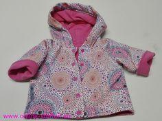 Heerlijk zacht jasje, voor meisjes baby. Okö-tex gecertificeerde jersey van Hilco stoffen.
