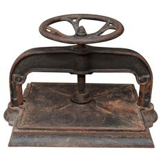 Shop vintage decorative objects, including sculptures, figurines and other collectibles from the world's best furniture dealers. Bookbinding Tools, Book Press, Tool Sheds, Book Binding, Antique Books, Decorative Objects, Letterpress, Cool Furniture, Heavy Metal
