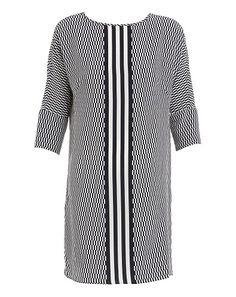 Relaxed fit dress made from Silk crepe de chine. Featuring an on trend window pane print with mid sport stripe, side pockets, a round neckline sleeves. Silk Crepe, Dress Making, Spring Summer Fashion, Neckline, Window, Pockets, Gift Ideas, Sport, Fit