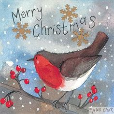 Alex Clark CHRISTMAS Pack Of 5 Cards                                                                                                                                                                                 More
