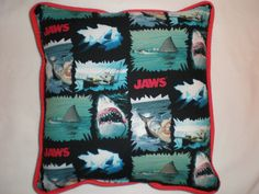 """Jaws """"We're Going To Need A BIgger Boat"""" Pillow by GoughGoodies on Etsy"""
