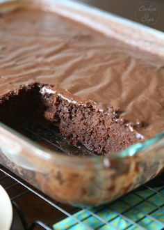 a dense rich chocolate cake with a poured frosting.almost like a brownie, but all cake! Had to bake for 50 minutes. Cupcakes, Cupcake Cakes, Cake Cookies, Bundt Cakes, Cake Recipes, Dessert Recipes, Potluck Recipes, Frosting Recipes, Yummy Recipes