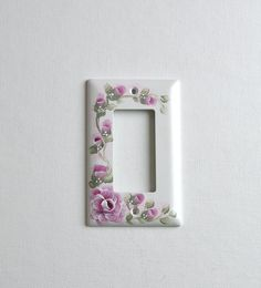 RASPBERRY ROSES Hand Painted Pink Rocker Decora Gfi Outlet Switch Plate Cover FREE SHipping