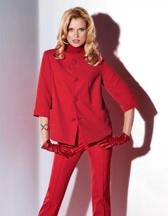 Blazer in leichter O-Silhouette in den Farben rot, schwarz - im Madeleine Mode Onlineshop