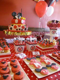 Sweet Party Box: PrImer Año y BaUtisMO de MaxImo: Mickey Mouse ...