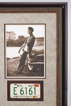 Custom Framed License Plate for Dad - Father's Day