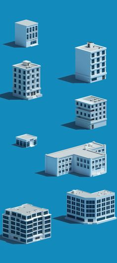 Low Poly Buildings on Behance
