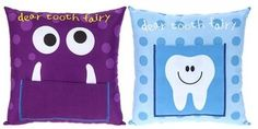 Boys girls Tooth Fairy Cushion (more options) these are fab for their little teeth when they fall out! Little man swallowed his first one! Tooth Pillow, Tooth Fairy Pillow, Tooth Fairy Money, Kids Pillows, Teeth, Cushions, Gifts, Colourful Designs, Etsy