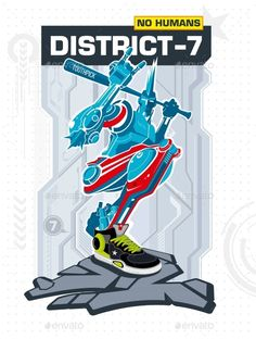 Armed Robot From District 7  - Characters Vectors