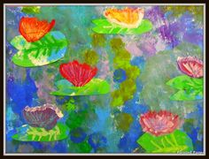 Monet Waterlilies paintings created by 3rd grade artists. Inspirational Board Students looked at the Monet inspirational board. We discussed the difference between hardy and tropical waterl…